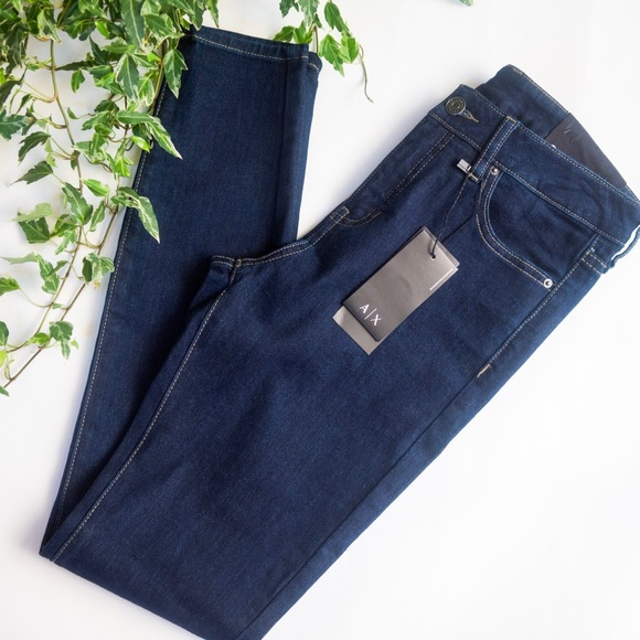 f0d19adf67 Armani Exchange Super Skinny High Waist Jeans 27 NWT